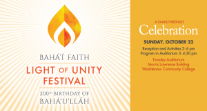 Light of Unity Festival: A Family-Friendly Celebration @ Morris Lawrence Building | Ann Arbor | Michigan | United States