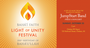 Light of Unity Festival: Free concert in Chelsea @ Chelsea RR Depot | Chelsea | Michigan | United States