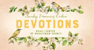 Sunday Morning Devotions (online gathering) @ online