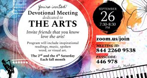 Devotional Meeting dedicated to the Arts @ online event