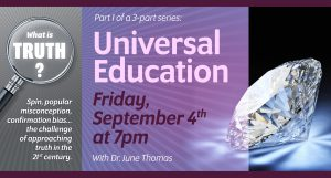 What is TRUTH, Part One: Universal Education @ online